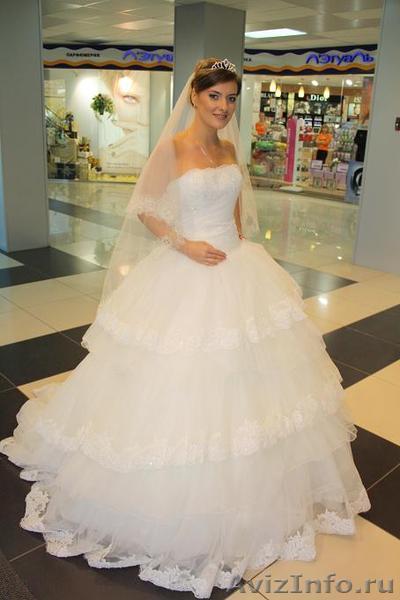Шикарное пышное свадебное платье со шлейфом в традиционном стиле в Барнауле, продам, куплю, одежда в Барнауле - 491077, barnaul.avizinfo.ru