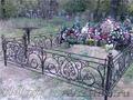 Оградка кованая,  ритуальные ограды для могил, крест, ритуальные изделия.