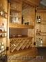 Мебель для кафе и ресторанов. Шкаф-бар винный из массива берёзы на заказ.