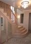 Лестница деревянная из массива бука.